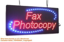 Fax Photocopy Sign, TOPKING Signage, LED Neon Open, Store, Window, Shop, Display
