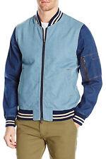 Slate & Stone Men's Jacket Grant Denim Bomber Sportswear Jeans Top Size L NEW