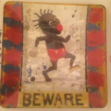 Collector Beware Big Red Lips Medium Glass Collector Plate -Signed, Numbered