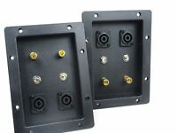 """DJ Speaker Cabinet Terminal Cup Pair With Speakon & 1/4"""" Connections 7x5"""