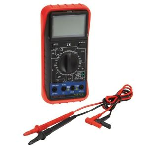 AC/DC Digital Multimeter With EXTRA LARGE LCD DISPLAY