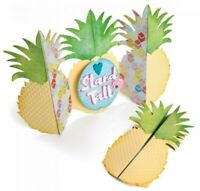 Pineapple Fold-a-long Card Sizzix Thinlits Die Set NEW!