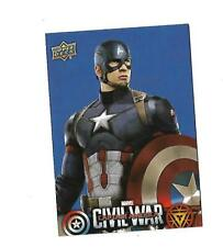 2016 UPPER DECK CAPTAIN AMERICA CIVIL WAR CAPTAIN AMERICA BLUE #CW1