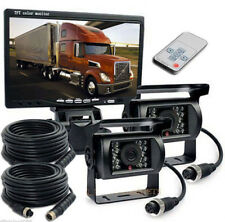 "7"" Monitor Reversing 2 x CCD Rear View Camera Waterproof for Truck Caravan Bus"