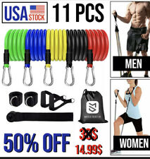 "11Pcs Resistance Bands Home Workout Exercise Crossfit Fitness Training Gym ""F"""