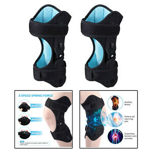 2x Knee Protection Booster Joint Knee Sleeve Support for Climbing Walking