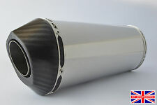 Kawasaki ZX6R 03-04 Diabolus Polished Stainless Oval XLS Carbon Outlet Exhaust