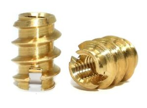 THREADED BRASS INSERTS FOR WOOD AND PLASTICS SELF TAPPING INSERTS M3 M4 M5 M6 M8