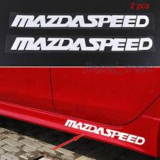2pcs MAZDASPEED Logo Silver White Car Auto SUV Sticker Decal Universal for Mazda