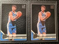 2020 Panini Clearly Donruss MATISSE THYBULLE Rated Rookie Acetate 76ers Lot of 2