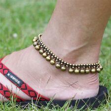 Fashion Women Jingle Bells Charms Bead Retro Silver Chain Anklet Ankle Bracelet