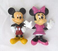 Disney MICKEY & MINNIE MOUSE Action Figure Figurine Set Toy Birthday Cake Topper