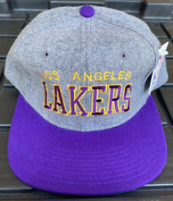 NWT Vintage 90s Los Angeles Lakers Starter Melton Wool Arch Snapback Hat Cap NBA