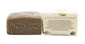 1 piece Sea Kelp and Rhassoul Clay Shampoo Bar, 65g, 100% Natural Handmade