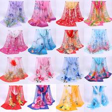 2018 Fashion Stylish Women Long Soft Silk Chiffon Scarf Wrap Shawl Scarves