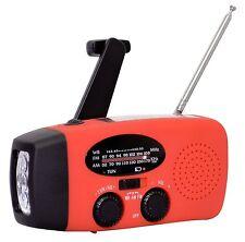 Emergency Solar Hand Crank  AM/FM/WB Weather Radio LED Flashlight Charger