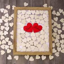 130pcs Heart Shaped Natural Wood Log Slices for DIY Crafts Wedding HOMEMAXS AU