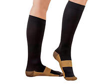 ANGEL KT Compression Copper Socks Miracle Foot Pain Relief 1 Pair LG/XL Black