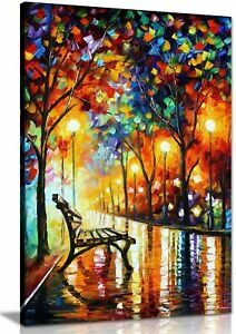 Loneliness Of Autumn  Abstract Oil Painting Canvas Wall Art Framed  20X30''