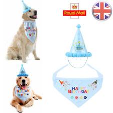 Blue Pet Dog Cat Birthday Hat Headwear Bandana Neckerchief Ties Party Dress Hat