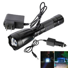 3000Lumen 5 Mode LED 18650 Rechargeable Flashlight Torch Lamp + CAR AC Charger