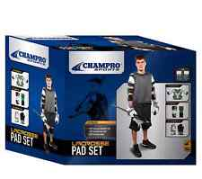 NEW Champro LRX7 Lacrosse LAX Complete Set Shoulder, Arms Pads & Gloves Large