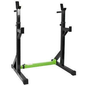 Adjustable Squat Rack with Dip Bar Handles Weight Gym Bench Weightlifting Cage