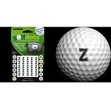 Golfdotz Golf Ball Transfers - Personalize Your Golf Ball - Black Alpha - Z