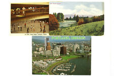 Lot of 3 Oregon Postcards Vintage Mt Hood Portland Lloyd Center Ice Rink