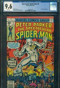 SPECTACULAR SPIDER-MAN #9 CGC 9.6 NM+ WP 1st App WHITE TIGER Marvel Comics KEY