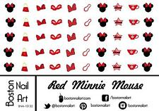 Red Minnie Mouse Waterslide Nail Decals - 50pc - BNA-10132