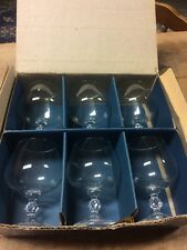 "6 CLAUDIA CRYSTAL STEMWARE BY IMPORT ASSOC 5"" BRANDY GLASSES W/Box"