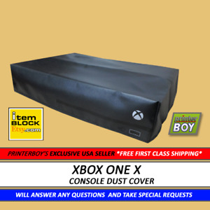 XBox One X Black Console System Dust Cover (Exclusive eBay US Seller) VINYL