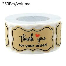 250pcs Thank You for Your Order Stickers Handmade Baking Packaging Seal Labels