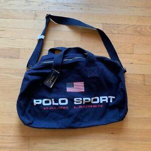 Ralph Lauren Polo Sport Duffel Bag Canvas Navy Blue 405749443001 MSRP: $250.00