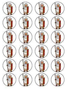 "x24 1.5"" Cartoon Roman Soldier legionary Childrens Cupcake On Edible Rice Paper"