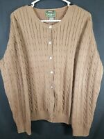 Eddie Bauer Stretch Women's Brown Long Sleeve Button Front Sweater Size XL