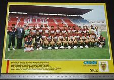 CLIPPING POSTER FOOTBALL 1987-1988 OGC NICE OGCN NISSA RAY AIGLONS