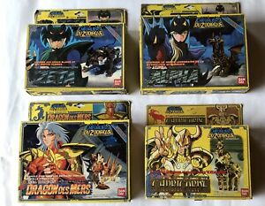 Lot Chevaliers du Zodiaque Saint Seiya Bandai Vintage 80s Boîtes