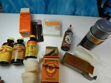 Hoppes no.9 Oil lubricant Outers patches rifle bore brush Gunslick jar tin rods