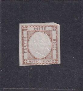 ITALIA ITALIAN STATES NAPOLI NAPLES 1861 1/2Gr BRUNO* MH - NUOVO CON GOMM