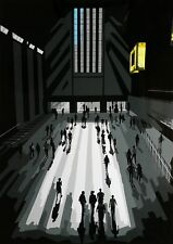 Tate Modern People Architecture Pop Art Limited Edition Signed Art Print