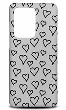 SAMSUNG GALAXY S SERIES PHONE CASE BACK COVER|HEARTS SCRIBBLE PATTERN 2