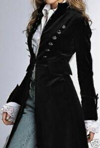 NEWPORT NEWS Military Style Coat Jacket Vintage 1990s Black Velvet 8