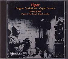 ELGAR Organ Sonata & Enigma Variations KEITH JOHN  CD Orgel Temple Church London