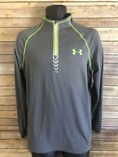 Under Armour 1/2 Zip Fit Size Small Gray Long Sleeve Nfl Combine Base layer Top