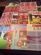 Burnley Home Teams A-B Domestic Club Competitions Football Programmes