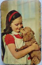 INDIAN  NUTRINE CONFECTIONERY CO. LTD ADVERTISE TIN BOX PRINT IMAGE GIRL & DOG