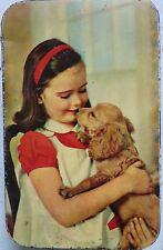 INDIAN  NUTRINE CONFECTIONERY CO. LTD ADVERTISE TIN BOX PRINT IMAGE GIRL & DOG