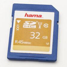 Hama 32GB SD HC I Karte Speicherkarte memory card